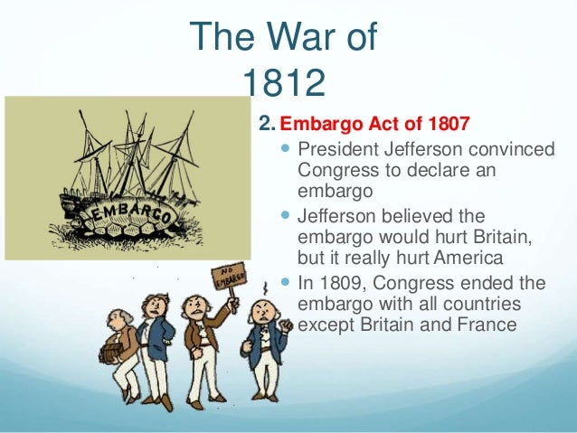 thomas jefferson embargo act of 1807 Embargo act a legislative measure enacted by congress in 1807 at the behest of president thomas jefferson that banned trade between us ports and foreign nations.