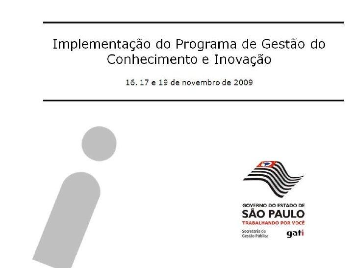 Apresentação Capacitação Gsi2009