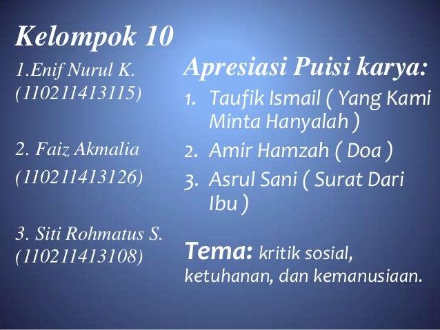 Kumpulan Puisi Taufik Ismail