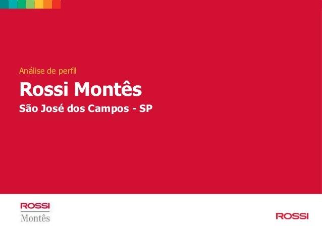 Análise de perfil Rossi Montês São José dos Campos - SP