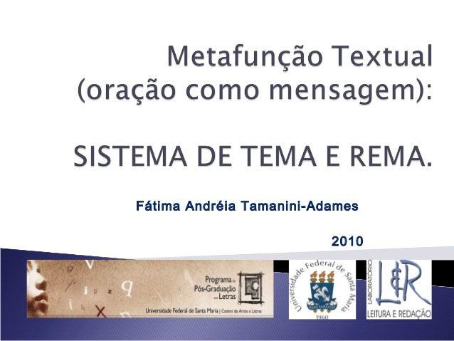 Fátima Andréia Tamanini-Adames 2010