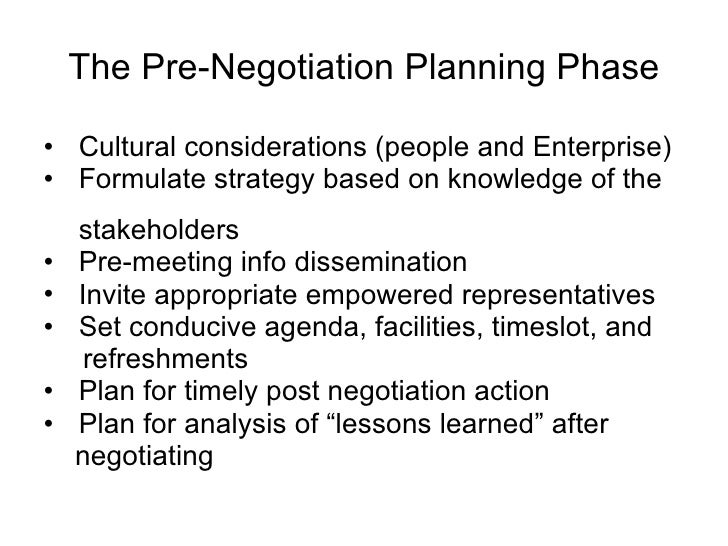 negotiation planning Negotiation planning planning for rapid & scott negotiation in any negotiation, preparation is crucial and having a set, outlined process to follow when preparing helps mitigate a.