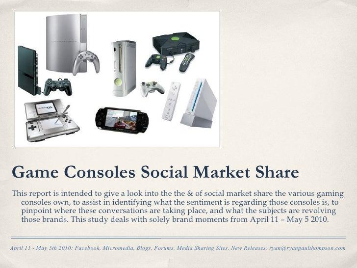 Video Game Platform Brand Moments in Social Media Report : April 11- May 5 2010
