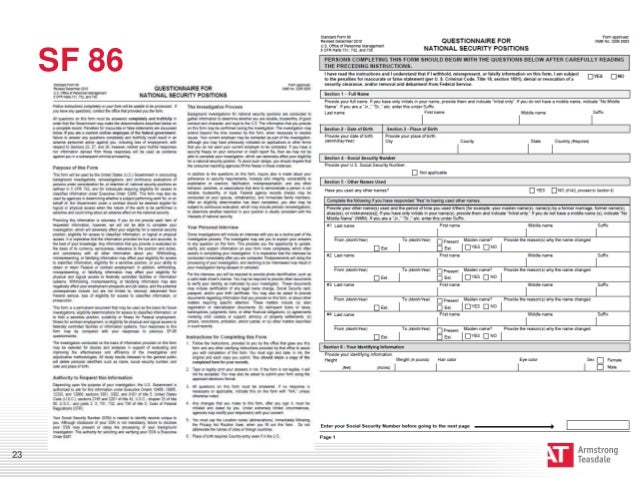 Worksheet Sf 86 Worksheet preventing personnel clearance issues sf 8623 24