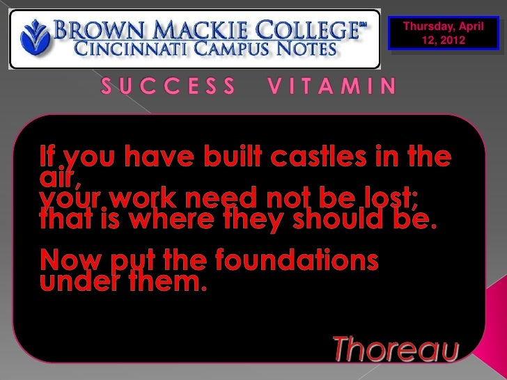 April 12th campus notes 04122012