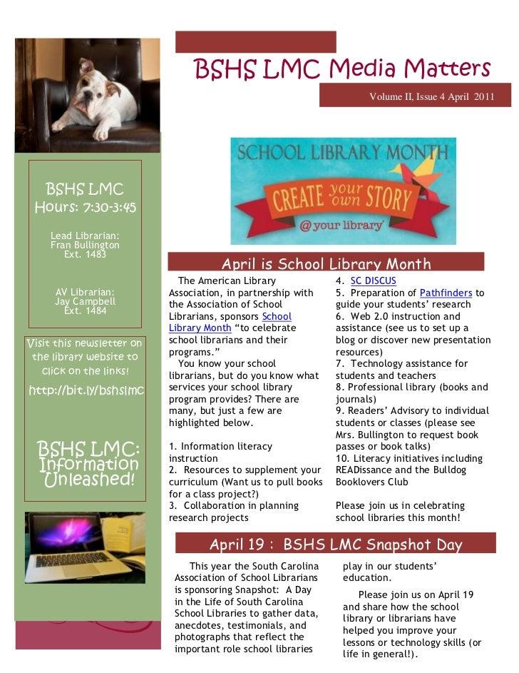 BSHS LMC Media Matters April 2011
