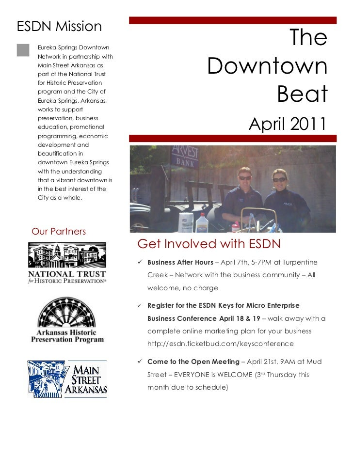 April 2011 ESDN Downtown Beat Newsletter