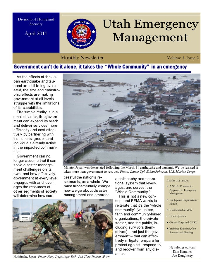 Utah Emergency Management: April 2011