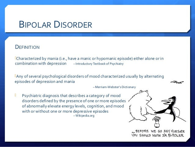 psychology and the bipolar disorder essay Research on mental health at the department of clinical psychology, university  of bergen  the aim of this thesis is to explore processes of recovery in bipolar  disorder what do  in the second paper, we describe first-person perspectives.