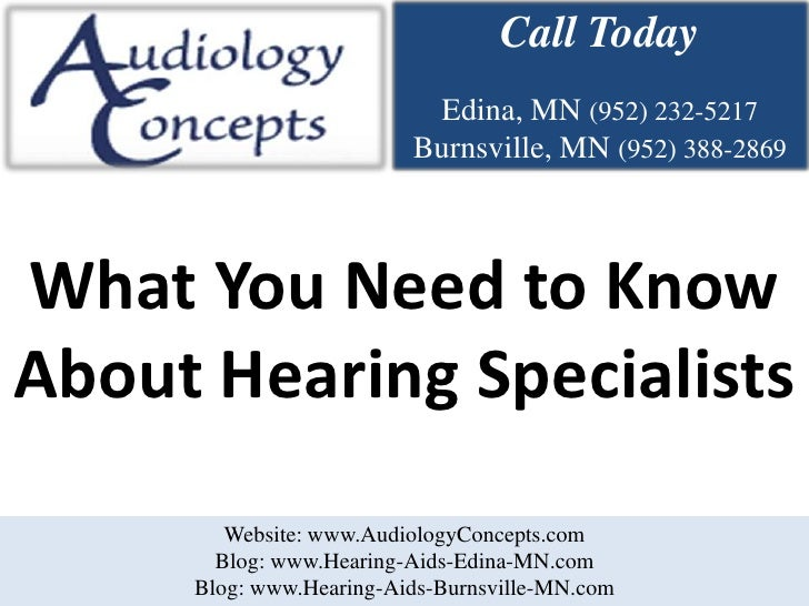 What You Need to Know About Hearing Specialists