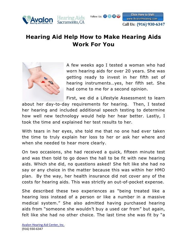 Hearing Aid Help How to Make Hearing Aids                Work For You                                  A few weeks ago I t...