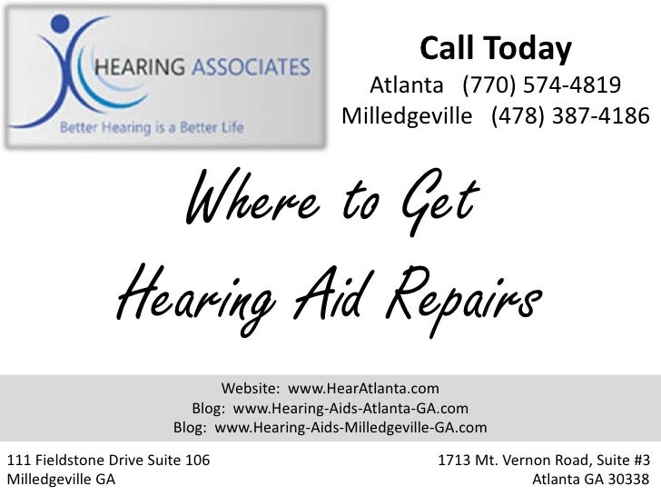Where to Get Hearing Aid Repairs