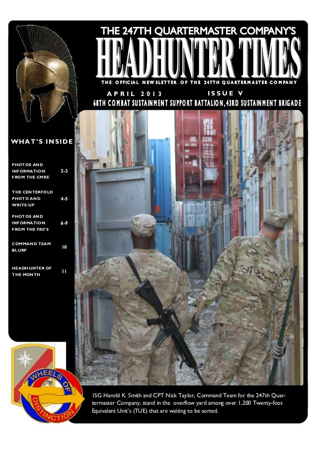 April 2013 company newsletter   the headhunter times