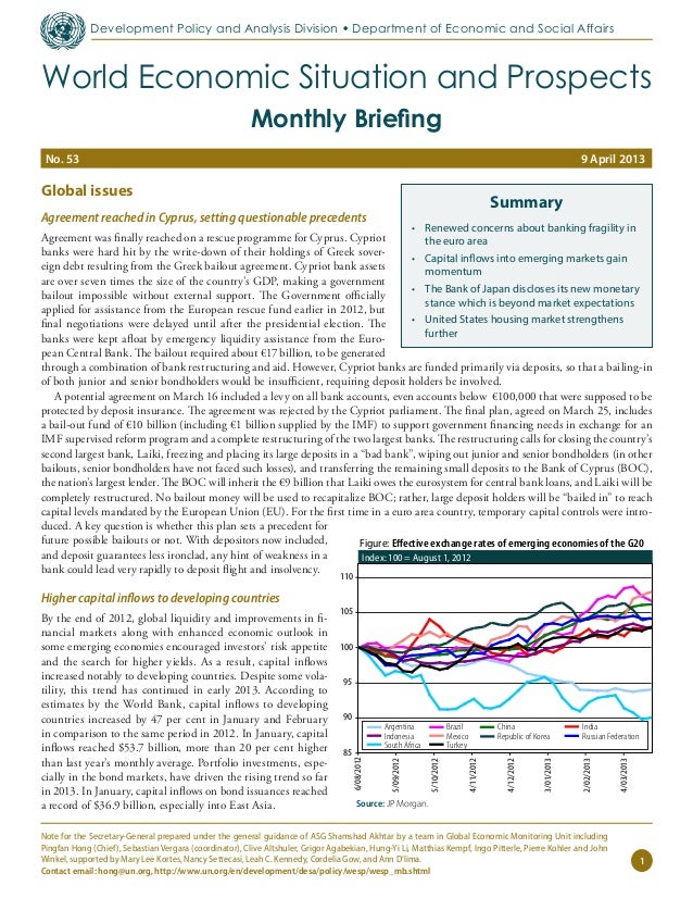 April 2013 World Economic Situation and Prospects