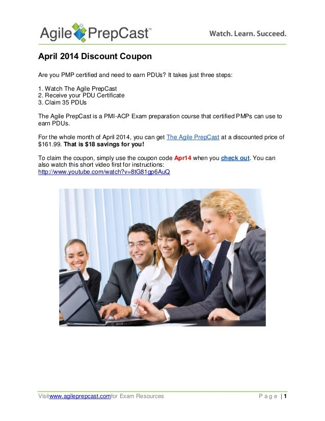 April 2014 Discount Coupon - Earning PDUs
