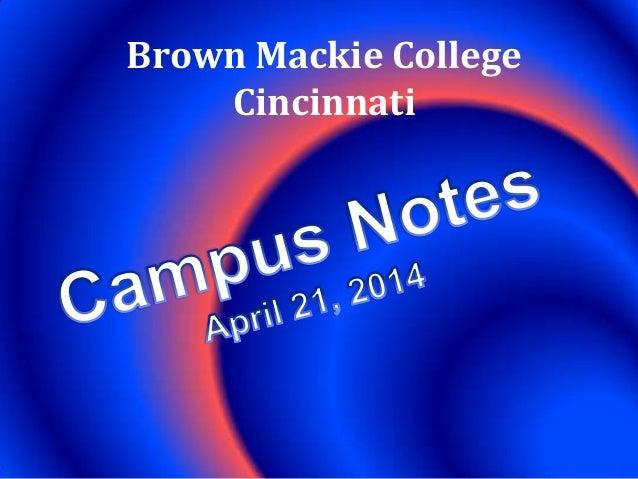 April 21 campus notes 04212014