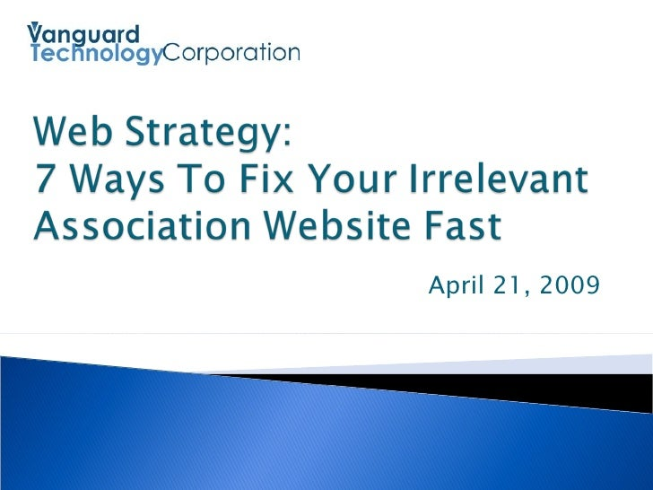 7 Ways To Fix Your Association's Irrelevant Website Fast