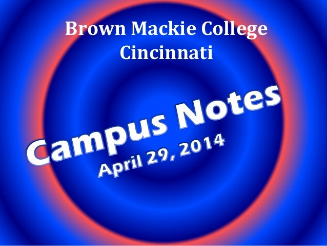 April 29 campus notes 04292014