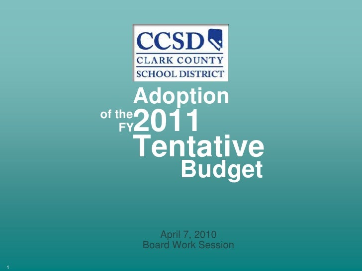 April 7 Board Worksession Tentative Budget   Final