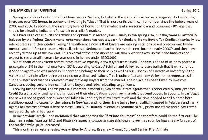 Sedona Broker April Newsletter