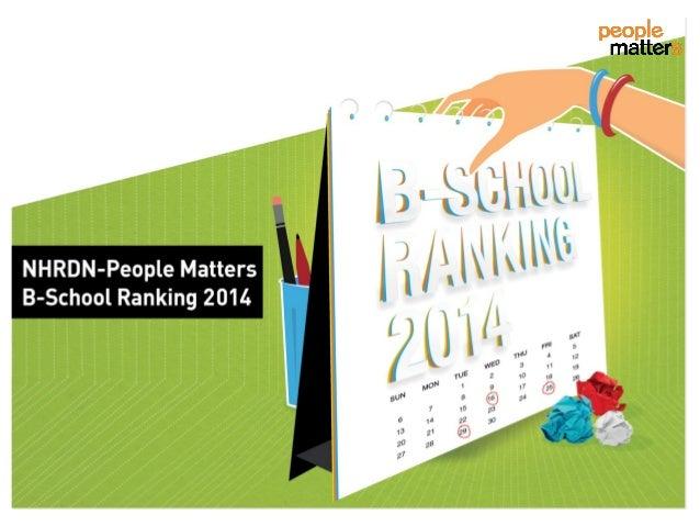 NHRDN - People Matters B-School Ranking 2014