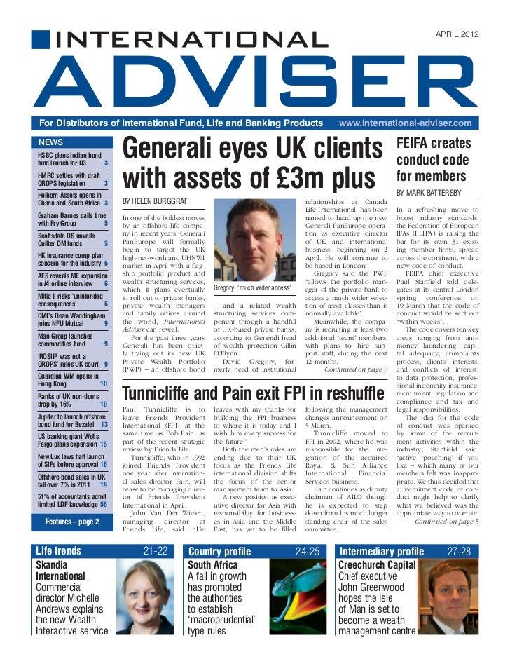 International Adviser April 2012