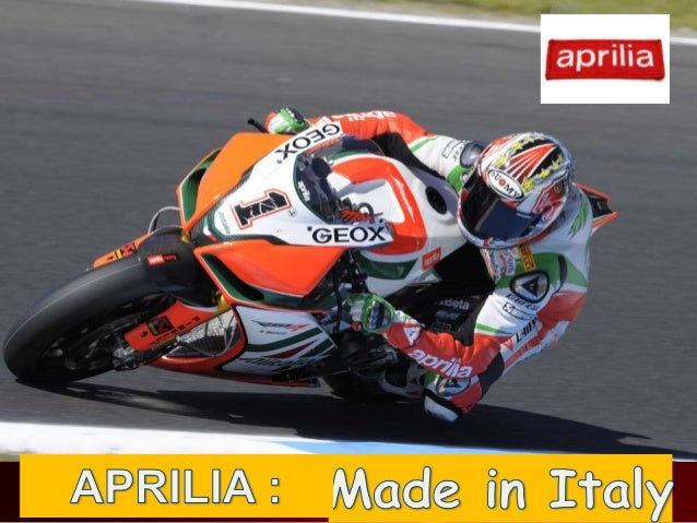 Aprilia made in italy