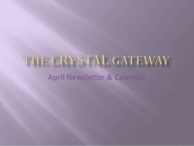 April Newsletter & Calendar