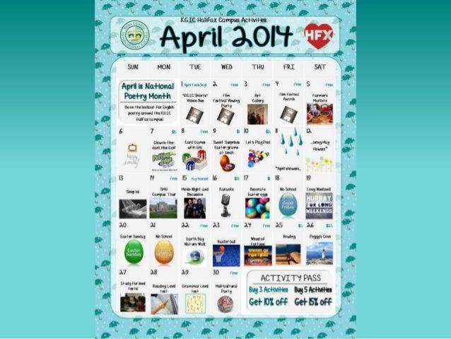 KGIC Halifax - April 2014 Activities