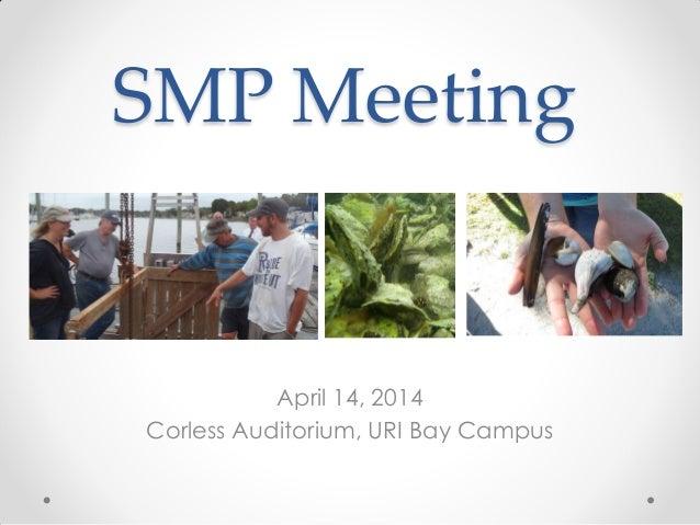 Shellfish Management Plan Meeting Updates