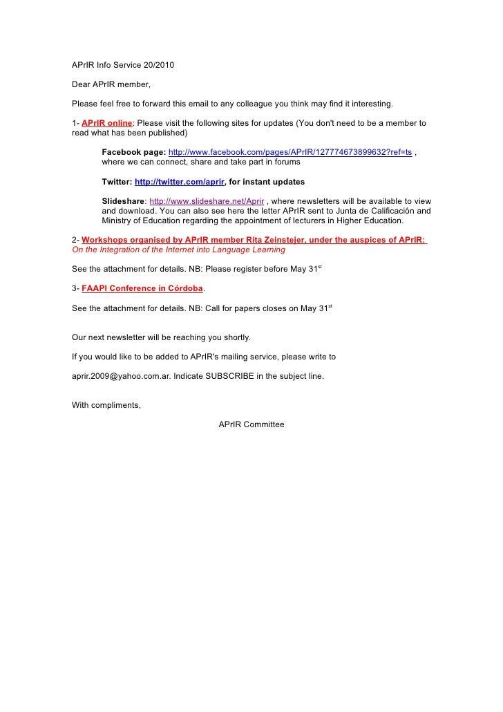 Aprir info service 20