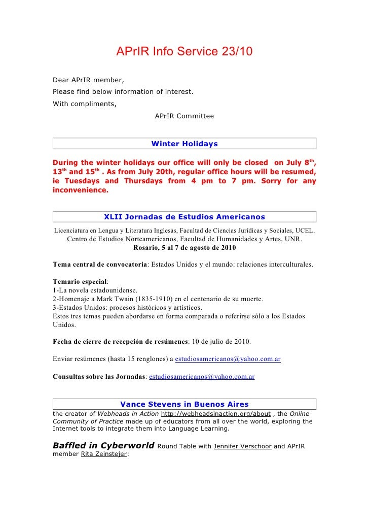 APrIR Info Service 23/10Dear APrIR member,Please find below information of interest.With compliments,                     ...