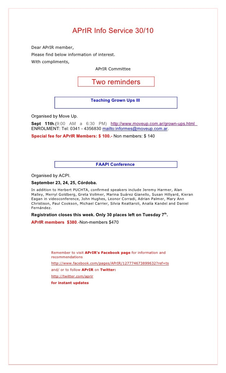 Aprir info service 30