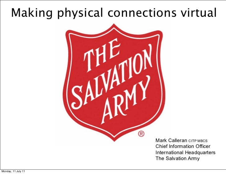 Salvation Army: A private social network