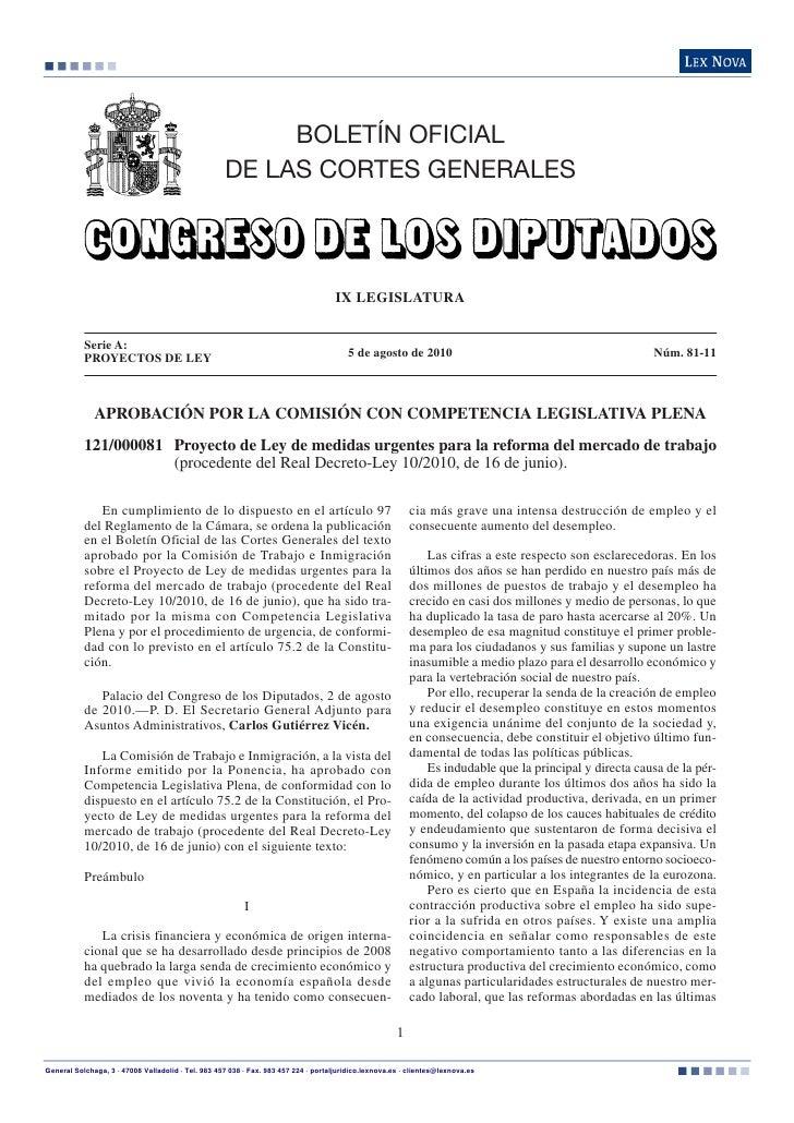 BOLETÍN OFICIAL                                                    DE LAS CORTES GENERALES                                ...