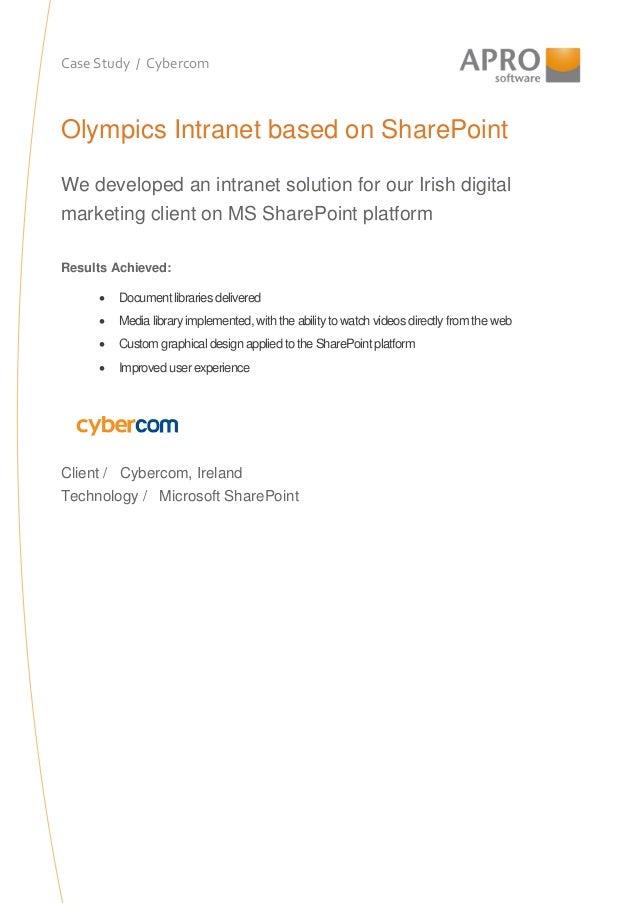 Apro case study cybercom coca cola