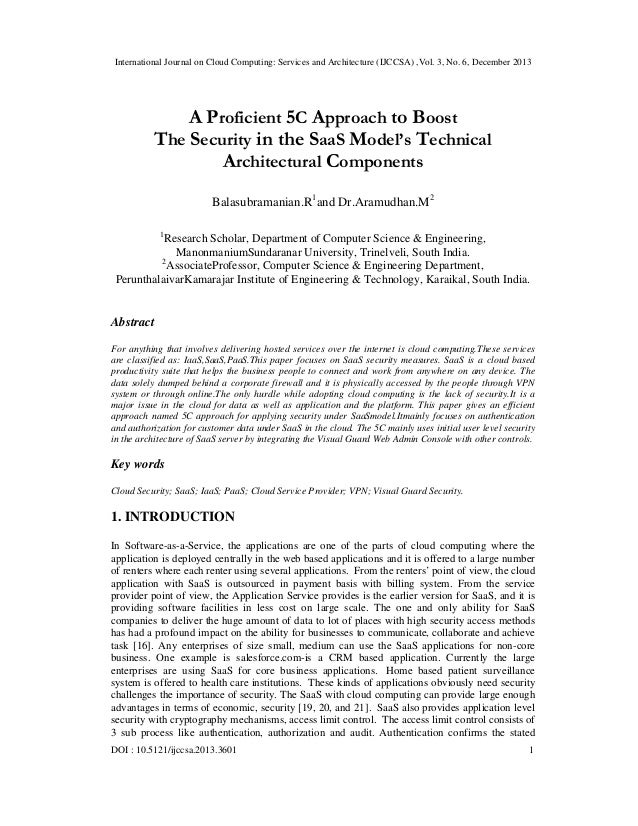 International Journal on Cloud Computing: Services and Architecture (IJCCSA) ,Vol. 3, No. 6, December 2013  A Proficient 5...