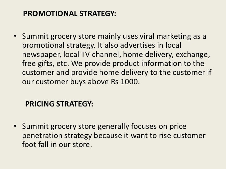 Supermarket business plan