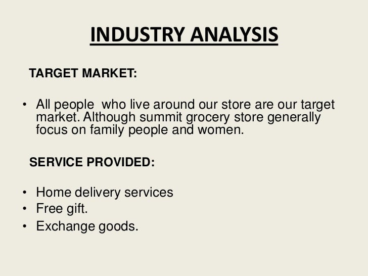 Business plan grocery store