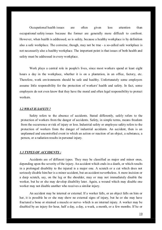 Dissertation proposal for occupational safety health