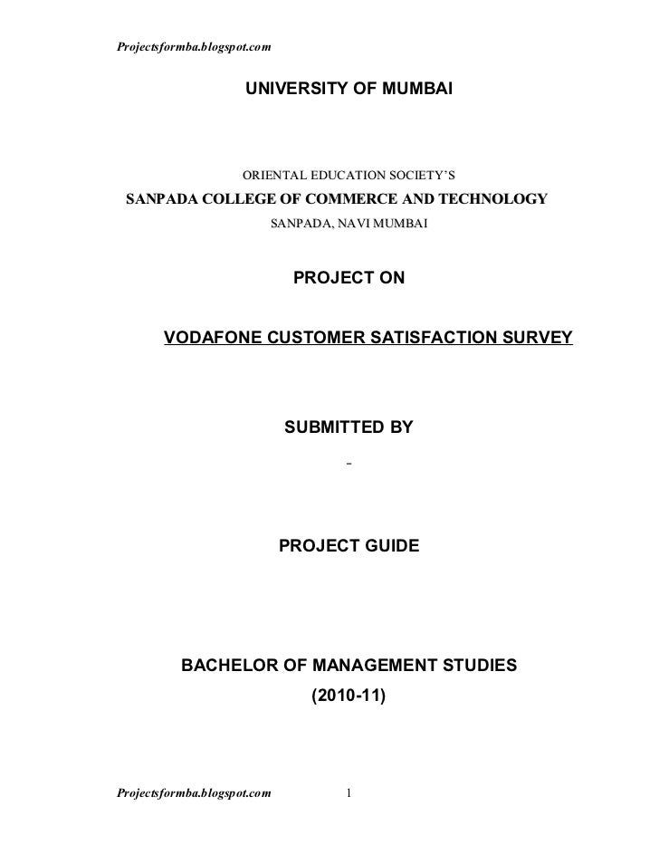 project report internal customer satisfaction Customer satisfaction customer satisfaction depends on the products perceived performance relative to a buyer expectation if the products performance falls short of expectations, the customer is.