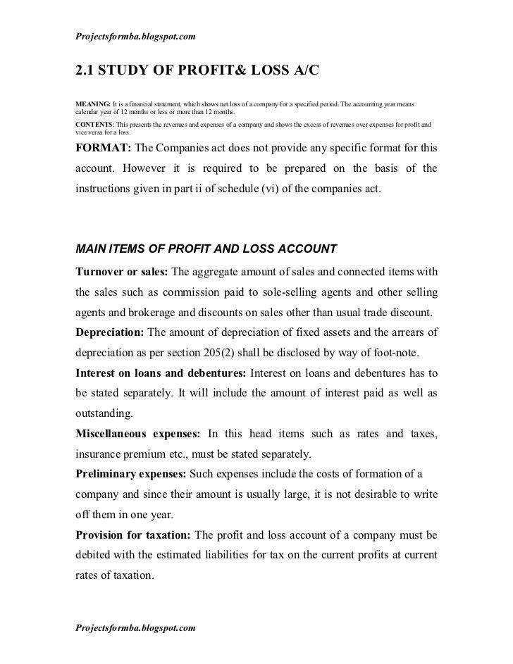 financial analysis report