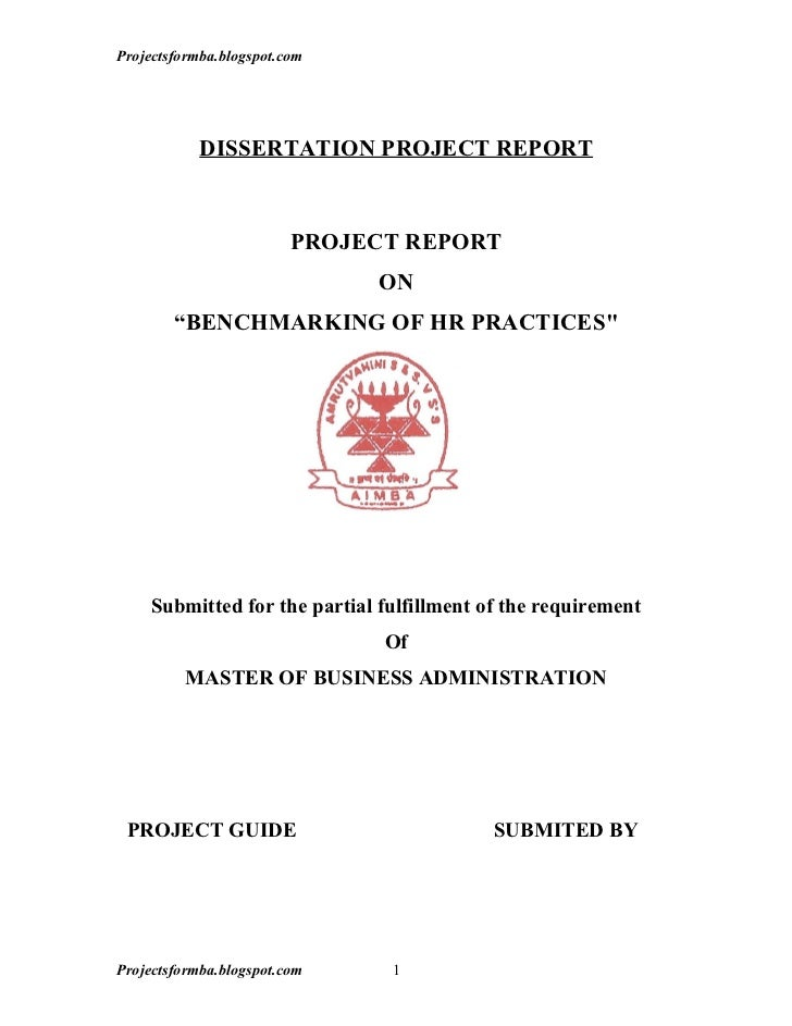 A project report on benchmarking of hr practices