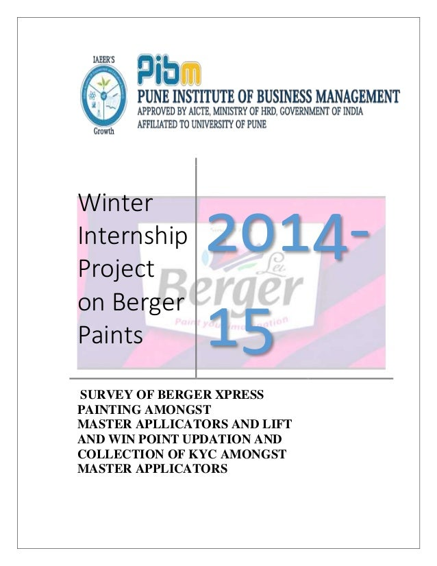 project report of berger paints college paper help