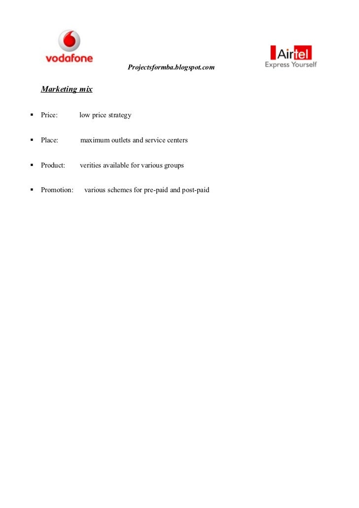 marketing strategies of vodafone