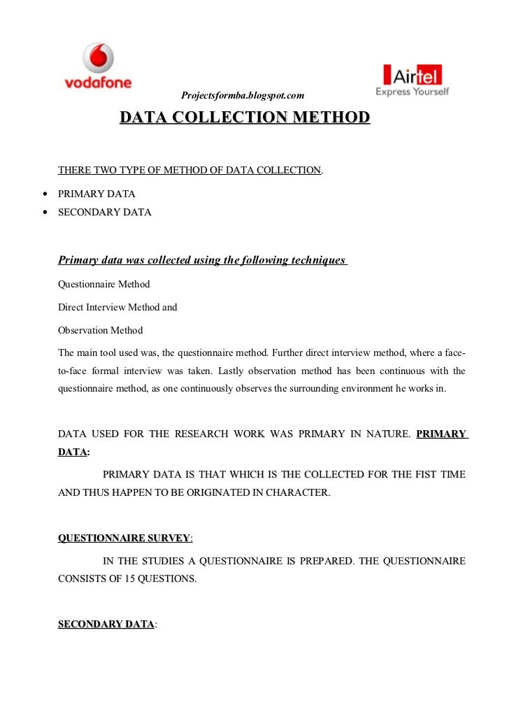 methods used for data collection essay July 26, 2013 examination of data collection methods for the national crime victimization survey final report prepared for shannan catalano bureau of justice statistics.