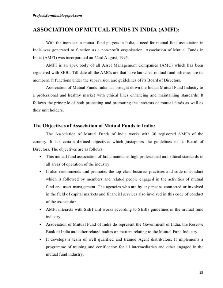 comparative study of mutual funds Abstract: mutual funds have emerged as an intermediary for wealth creation for  investors with varied objectives and varied risk -return appetites, without having.