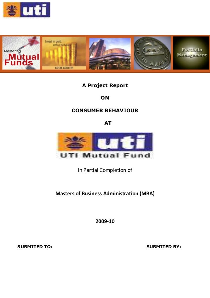 <br /> <br />A Project Report<br />ON<br />CONSUMER BEHAVIOUR<br />AT<br />In Partial Completion of<br />Masters...