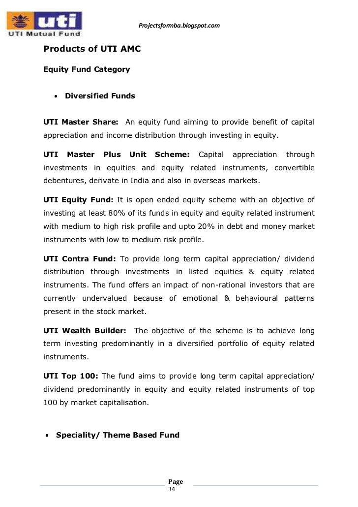 Mutual funds research papers