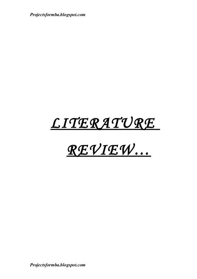 writing literature review essays